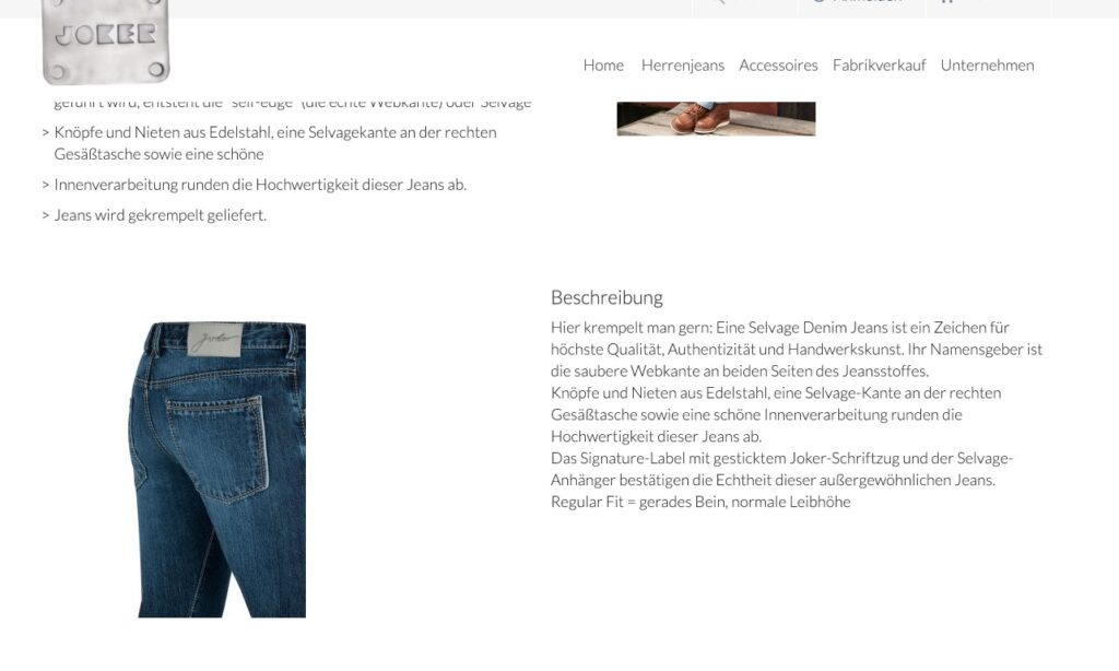 Herrenjeans Jeans-Passform Berater